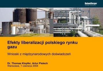 Efekty liberalizacji polskiego rynku gazu - p.wnp.pl