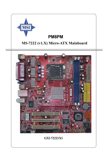 MSi MS-6577 Getting Started