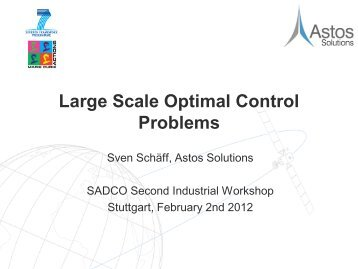Large Scale Optimal Control Problems