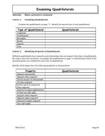 quadrilateral worksheet. Black Bedroom Furniture Sets. Home Design Ideas