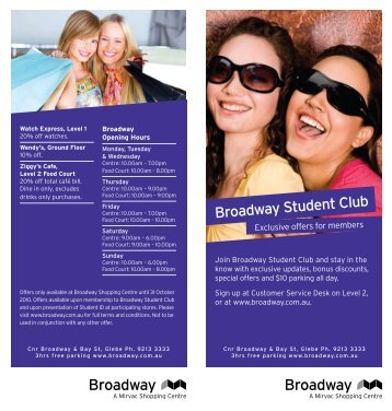 Join Broadway Student Club and stay in the - Blockshome.com