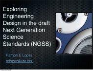 Exploring Engineering Design in the draft Next Generation ... - CEAS