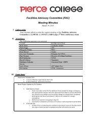 Facilities Advisory Committee Minutes for 3-19-2013 Meeting ...