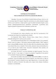 Makale Yazım Kuralları - GÜ SBE Elektronik Dergisi - Gümüşhane ...