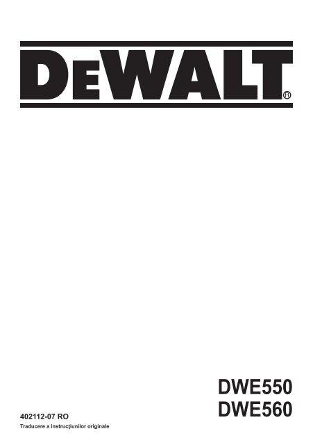 DWE550 DWE560 - Service - Dewalt