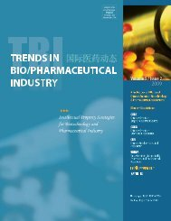 download whole issue - tbi Trends in Bio/Pharmaceutical Industry