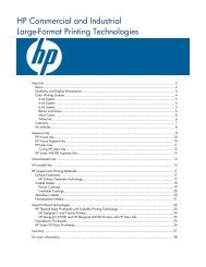 HP Commercial and Industrial Large-Format Printing Technologies