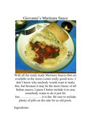 Giovanni's Marinara Sauce - The Geriatric Gourmet
