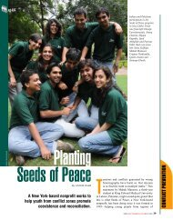 Planting Seeds of Peace, SPAN September/October 2009