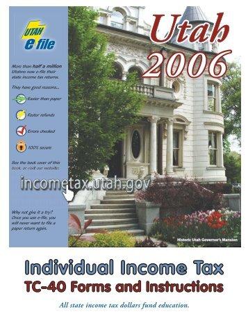 TC-40 Instructions - Utah State Tax Commission - Utah.gov