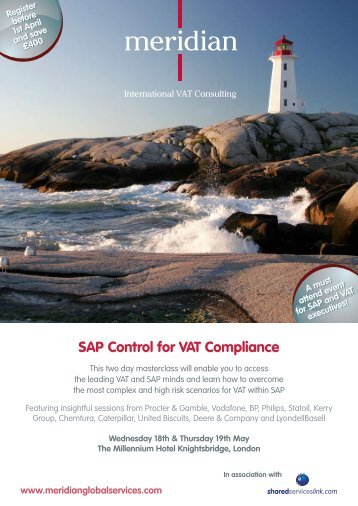 SAP Control for VAT Compliance - Meridian Global Services