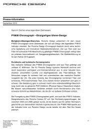 Presse-Information P'6930 Chronograph ... - Porsche Design