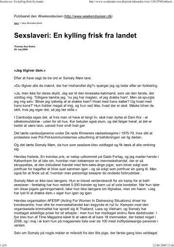 Sexslaveri: En kylling fris... - Journalist Thomas Aue Sobol