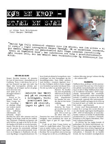 Køb en krop. Stjæl en sjæl. Interview i magasinet KURT af Stine ...