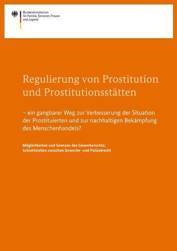 Regulierung von Prostitution und Prostitutionsstätten