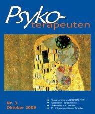 Nr. 3 Oktober 2009 - Psykoterapeut Foreningen