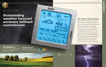 Outstanding weather forecast accuracy without ... - OpticsPlanet.com