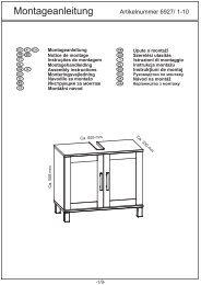 Montageanleitung - SB-Möbel BOSS