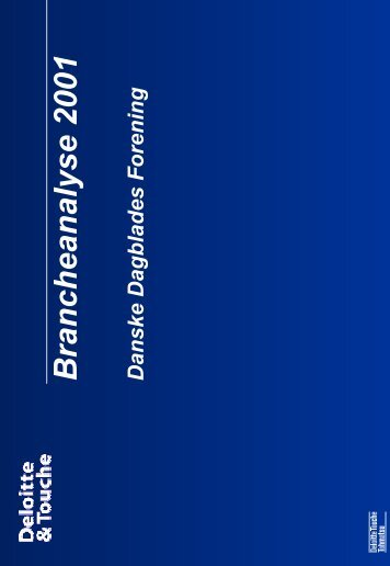 Brancheanalyse2001 - Danske Dagblades Forening