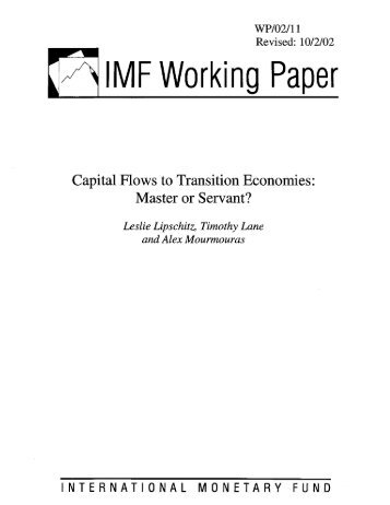 Capital Flows to Transition Economies: Master or ... - the JVI eCampus!