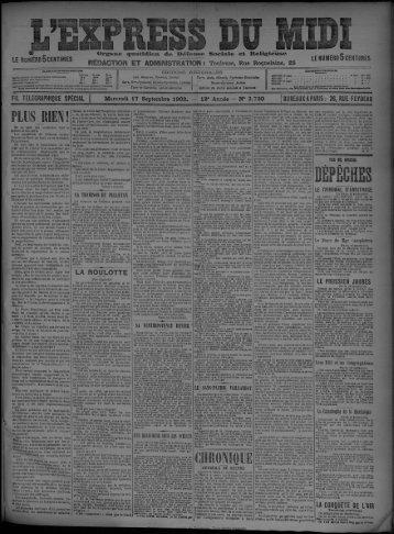 17 Septembre 1902 - Bibliothèque de Toulouse