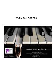 P R O G R A M M E - The Centre for Young Musicians