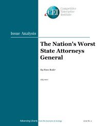 The Nation's Worst State Attorneys General - Competitive Enterprise ...