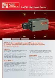 S-VIT LS High Speed Camera - AOS Technologies AG