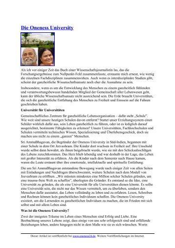 Die Oneness University - Oneness 24