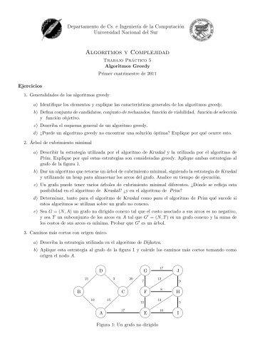 Algoritmos y Complejidad - Departamento de Ciencias e Ingeniería ...