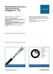 Minibündelkabel für Innen- / Außenanwendung A-DQ(ZN)H 12 – 144