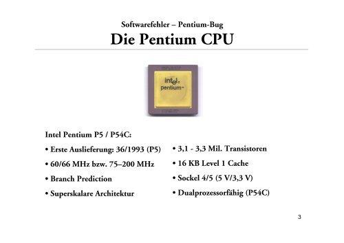 Sebastian Knieschewski: Pentium-Bug