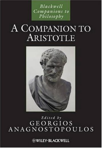 A Companion to Aristotle - WordPress.com - Helix Library