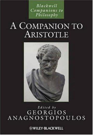 A Companion to Aristotle - WordPress.com - Helix Library