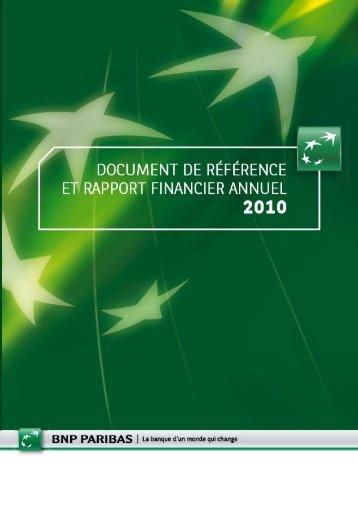 Document de référence et rapport financier annuel ... - BNP Paribas