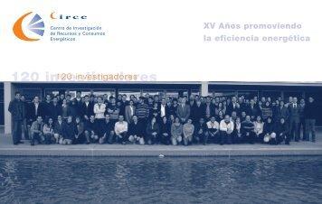XV Aniversario-Memoria.pdf - circe - Universidad de Zaragoza