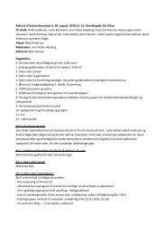Referat af bestyrelsesmøde d. 28. august, 2010, kl ... - Hiv-Danmark