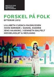 FORSKEL PÅ FOLK - Institut for Menneskerettigheder