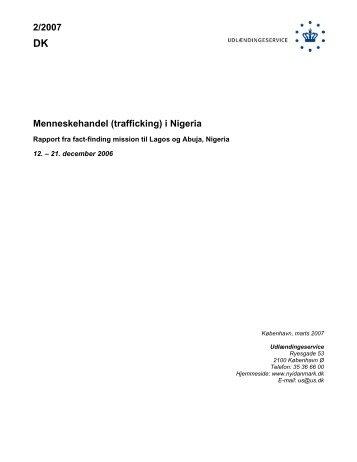 2/2007 Menneskehandel (trafficking) i Nigeria - Ny i Danmark
