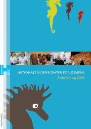 den seneste årsberetning. - Nationalt Videnscenter for Demens