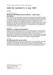 Uden for nummer 8, 5. årg. 2004 - Dansk Socialrådgiverforening