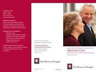 Download printable Spiritual Care brochure. - IU Health