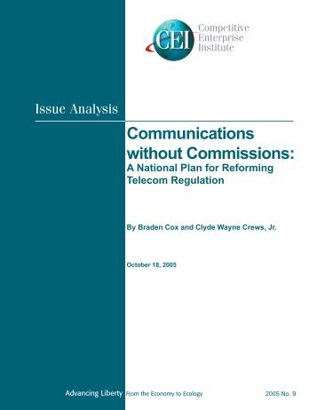 Communications without Commissions: - Competitive Enterprise ...