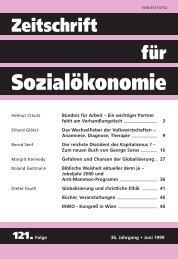 ZfSÖ 121 - Basislayout - Zeitschrift für Sozialökonomie