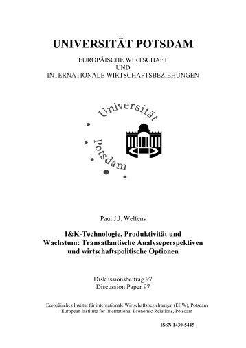 I&K-Technologie, Produktivität und Wachstum - EIIW