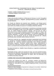 """CARACTERISTICAS PEDOGENETICAS DO """"BREJO"""" DA SERRA ..."""