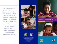Extra Help for Student Success (PDF) - U.S. Department of Education