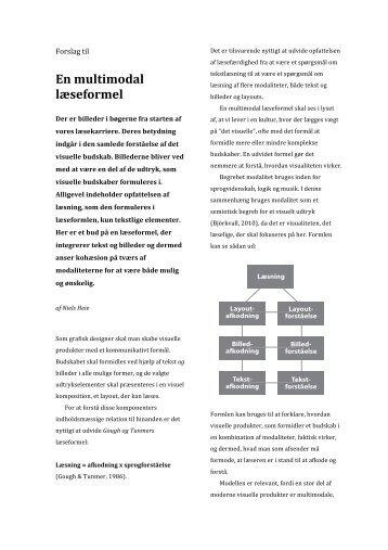 Forslag til en multimodal læseformel