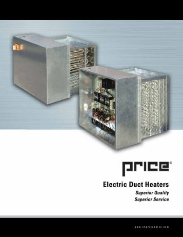 Electric Duct Heaters - EH Price Dartmouth
