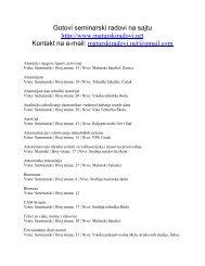 masinstvo seminarski - Seminarski Maturski Diplomski Radovi